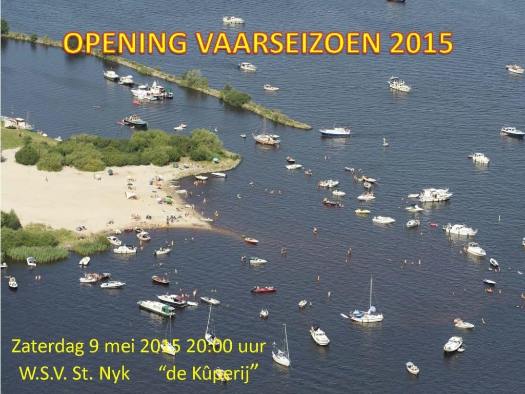 OPENING VAARSEIZOEN 2015